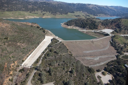 Anderson Reservoir is the largest of the 10 water district reservoirs.