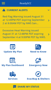 ready scc current alerts
