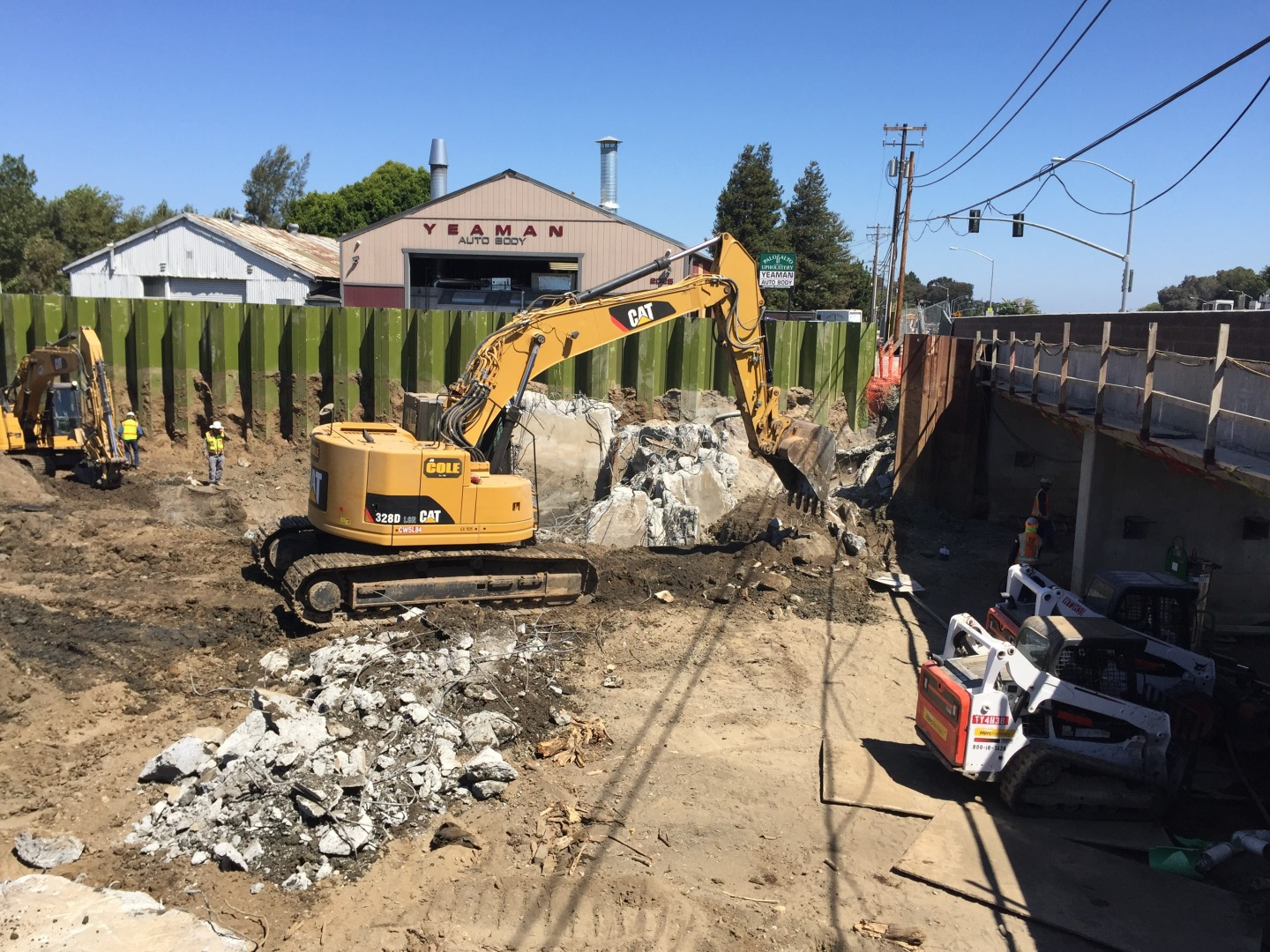 construction on San Francisquito Creek