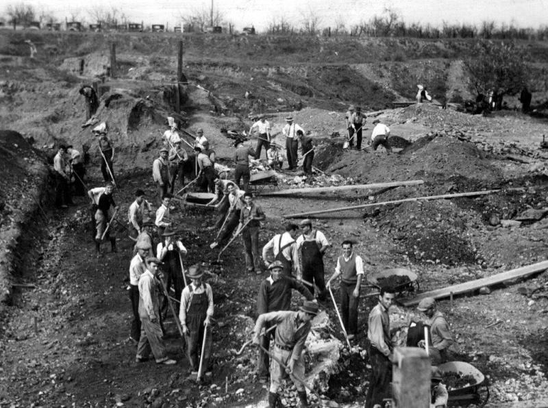 Dam workers crop